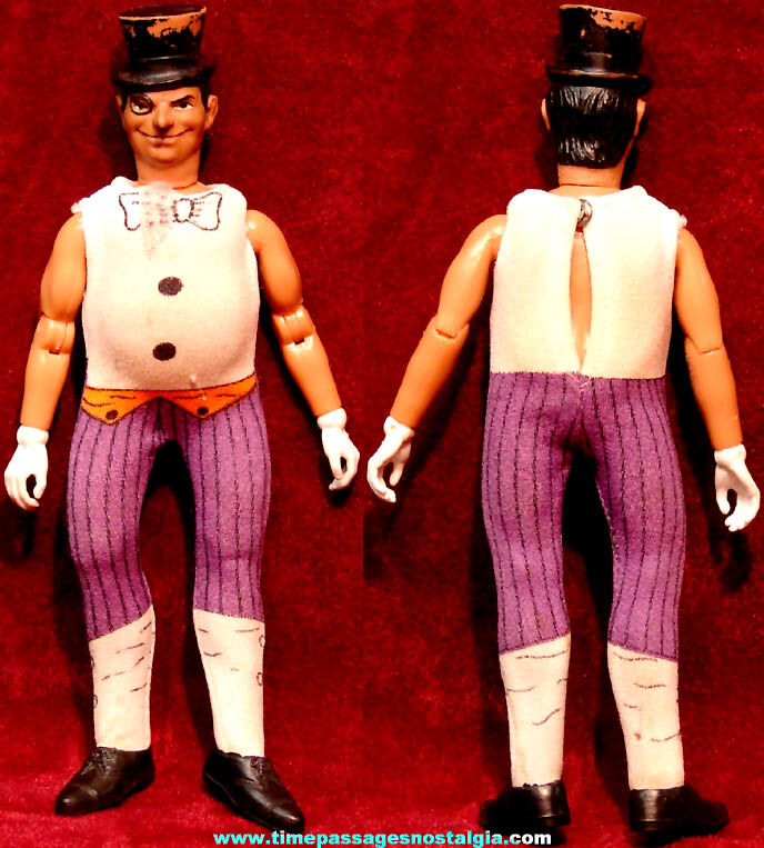 ©1973 Mego Penguin Batman Villain Character Action Figure Toy Doll with Outfit