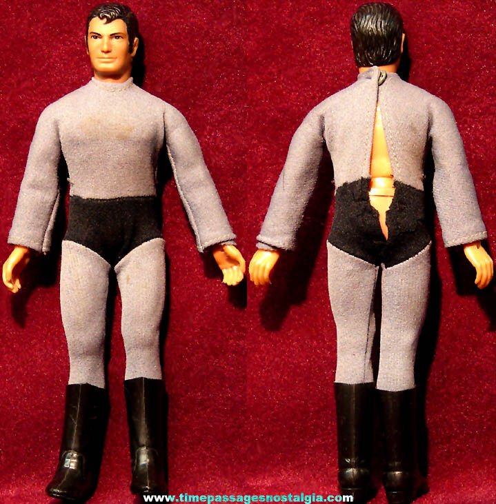 ©1974 Mego Superman Character Action Figure Toy Doll with Batman Outfit