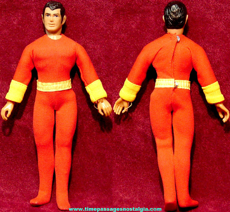 ©1974 Mego Shazam Character Action Figure Toy Doll with Outfit