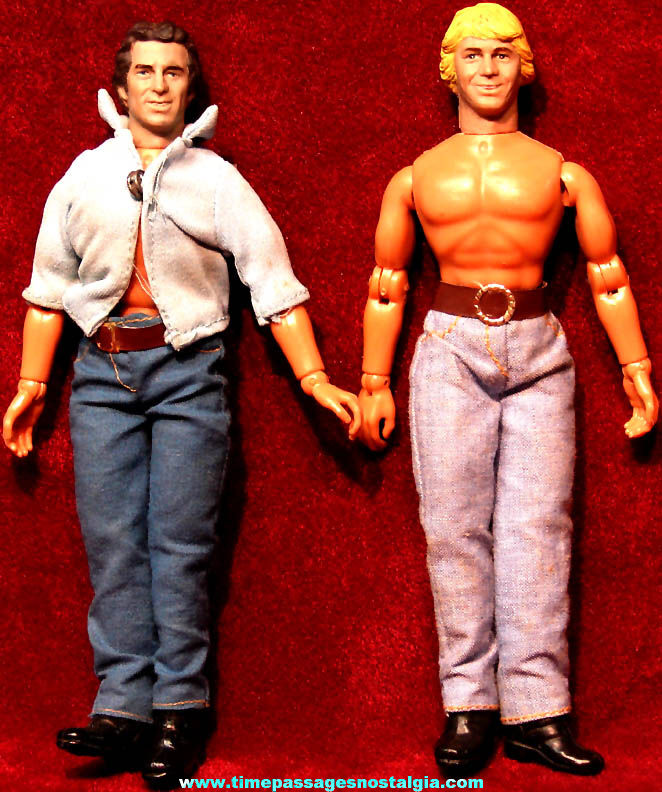 (2) ©1980 Mego Dukes of Hazzard Character Action Figure Toy Doll with Clothes
