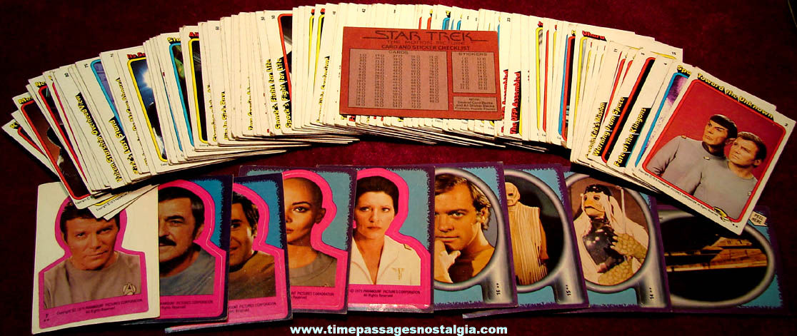 (111) ©1979 Star Trek The Motion Picture Non Sports Bubble Gum Trading Cards
