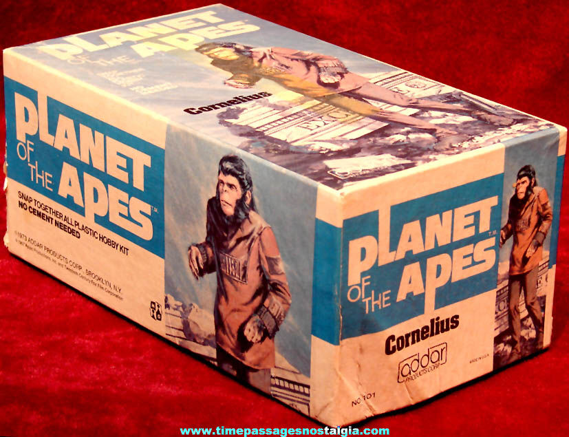 ©1973 Planet of The Apes Cornelius Character Model Kit Advertising Box