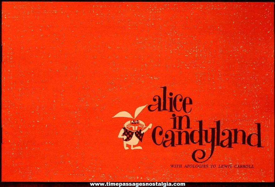 Old Lowney's Cracker Jack Pop Corn Confection Advertising Premium Alice in Candyland Booklet