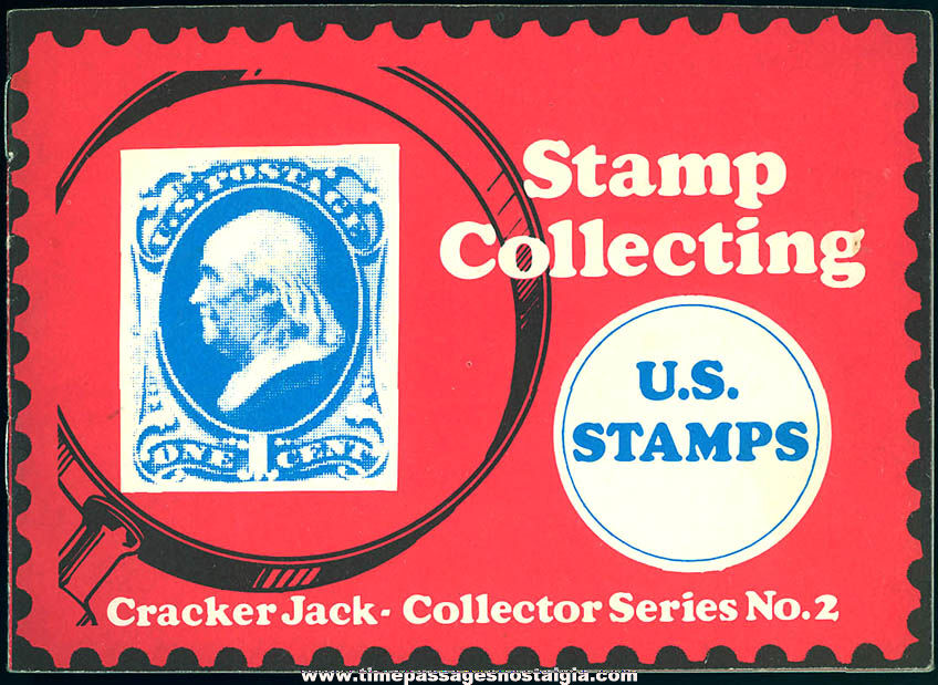 Old Cracker Jack Pop Corn Confection Advertising Premium United States Postage Stamp Collecting Booklet