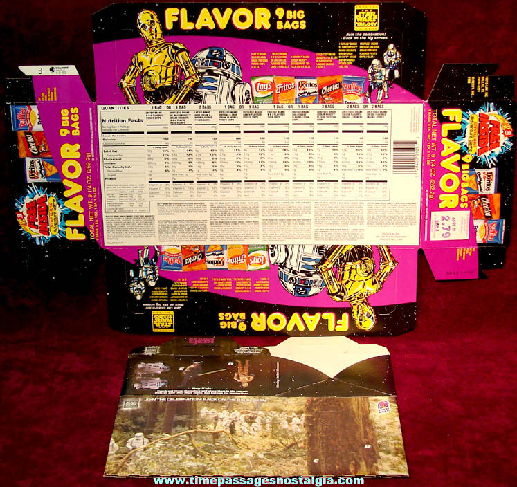 Colorful 1980s & 1990s Frito Lay & Taco Bell Star Wars Game Packaging