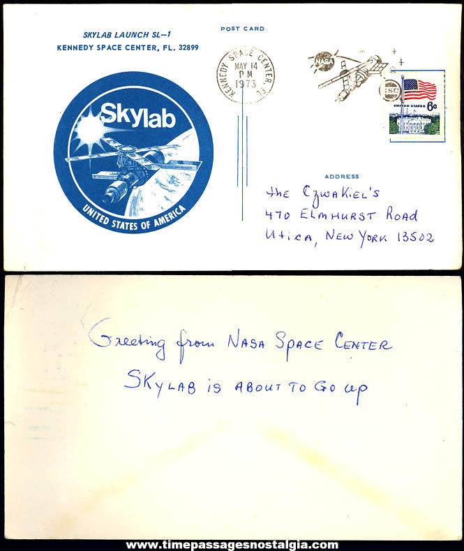 1973 Skylab SL-1 Launching Kennedy Space Center Advertising Post Card