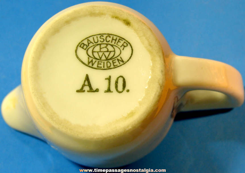Small Old German Mitropa Railroad Dining Car Advertising Porcelain Creamer Pitcher