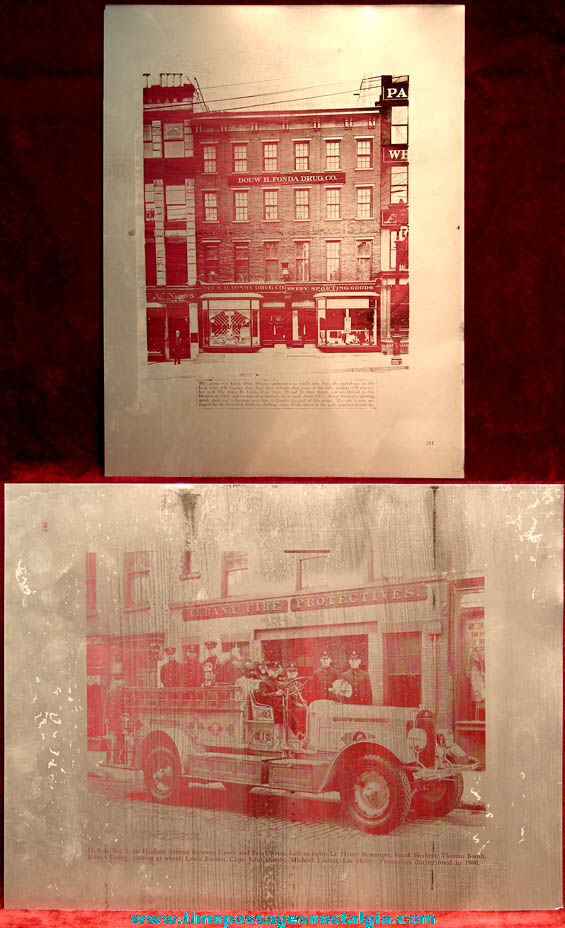 (3) Different Albany New York Two Sided Aluminum Newspaper Printing Plates