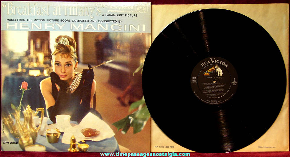 ©1961 Audrey Hepburn Breakfast At Tiffany's Movie Record Album