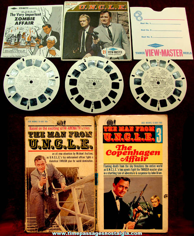 (3) 1960s Man From U.N.C.L.E. Television Show Character Items