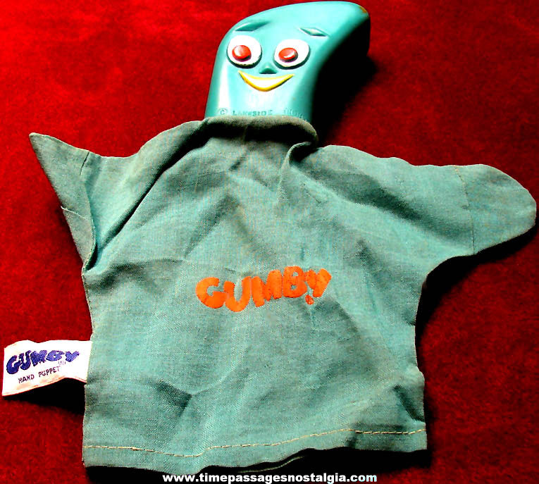 ©1965 Gumby Claymation Television Character Toy Hand Puppet