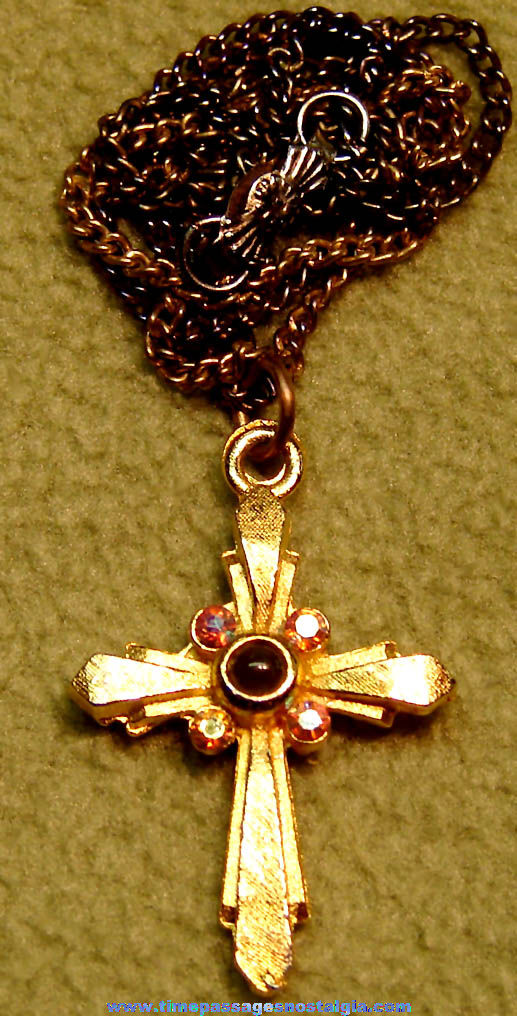 Necklace with The Lord's Prayer Stanhope Viewer Cross Pendant or Charm