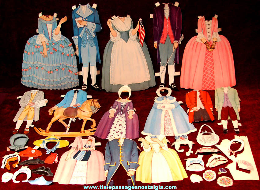 Boxed ©1969 Betsy Ross and Her Friends Toy Paper Dolls Set + Bonus