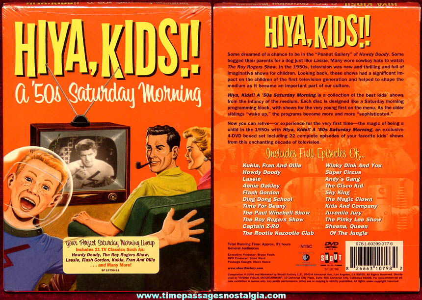 Unopened ©2008 HiYa Kids!! A 1950s Saturday Morning (4) Classic DVD Boxed Set
