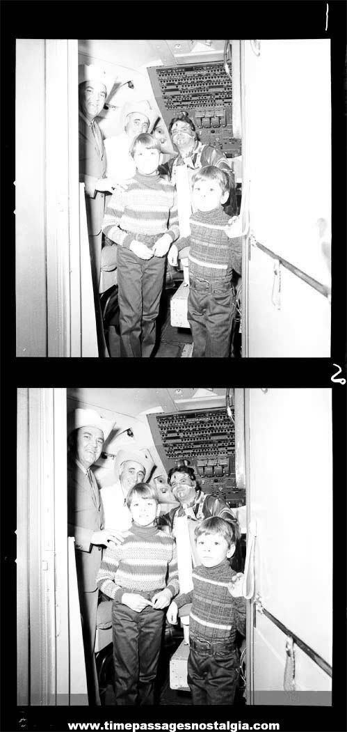 (2) 1976 Rex Trailer Cowboy Hero American Airlines Professional Black & White Photograph Negatives