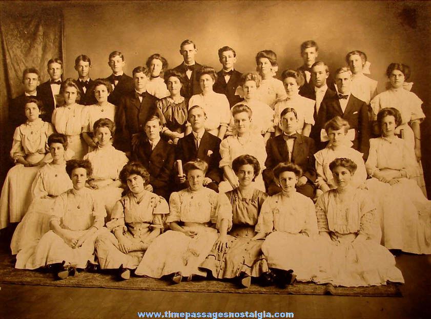 Large Early School Graduation Class Photograph