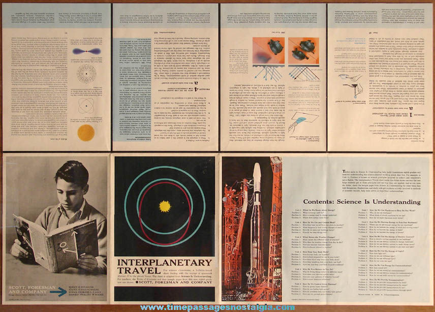 ©1964 Two Sided Interplanetary Travel Science Is Understanding Educational Chart Poster