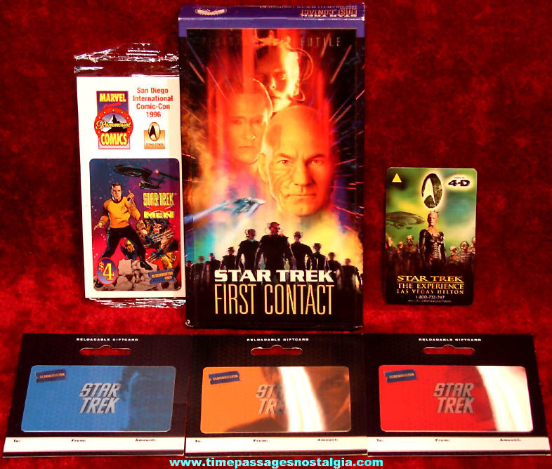 (6) Different Star Trek Space Movie or Television Character Related Items