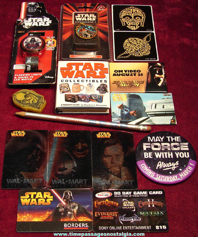 (15) Different Star Wars Space Movie or Television and Character Related Items