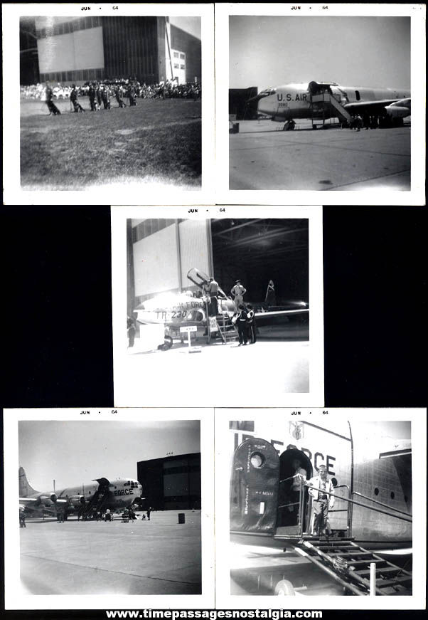 (5) 1964 United States Air Force Aircraft Black & White Photographs