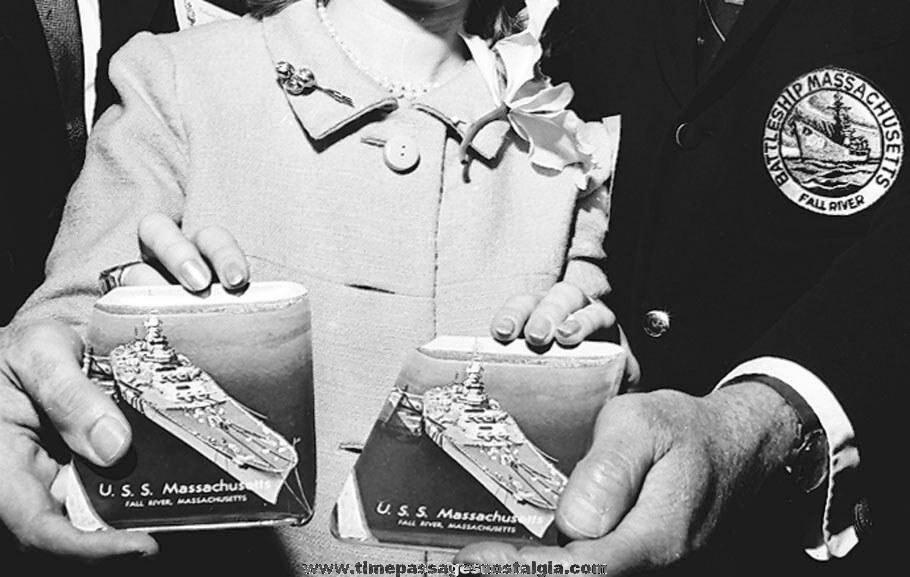(2) 1976 Battleship Museum U.S.S. Massachusetts, BB-59 Publicity Photograph Negatives