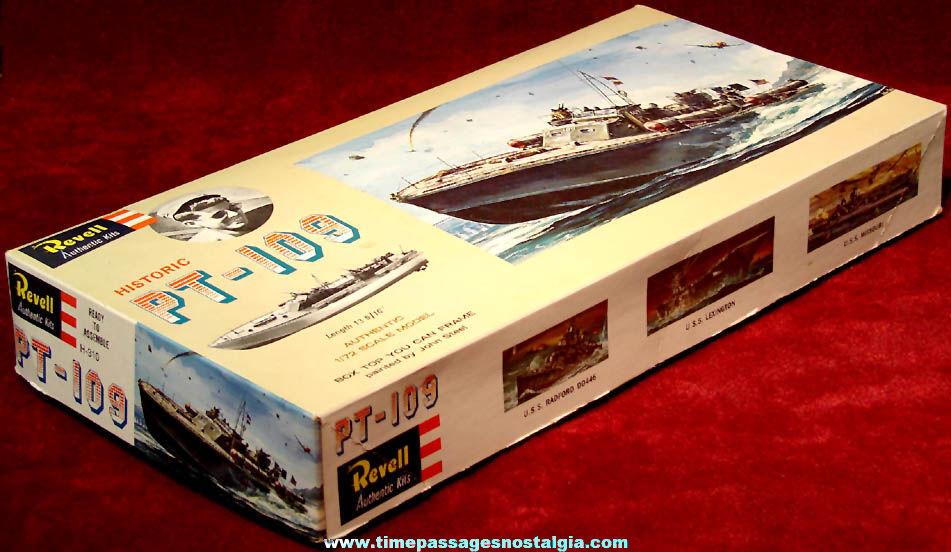 Boxed ©1963 United States Navy Motor Torpedo PT-109 Revell Plastic Patrol Boat Model Kit