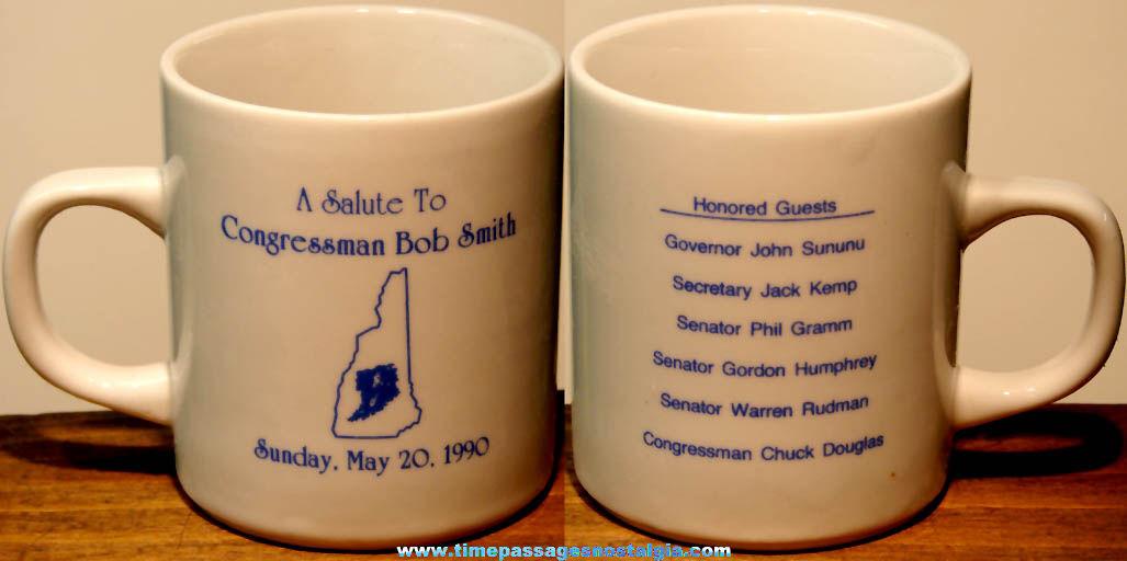 Unused 1990 Salute To Congressman Bob Smith Advertising Souvenir Ceramic Coffee Cup