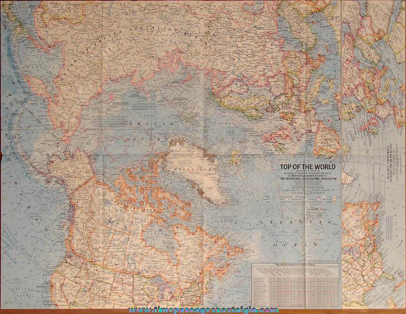 ©1965 National Geographic Society Top of The World Map