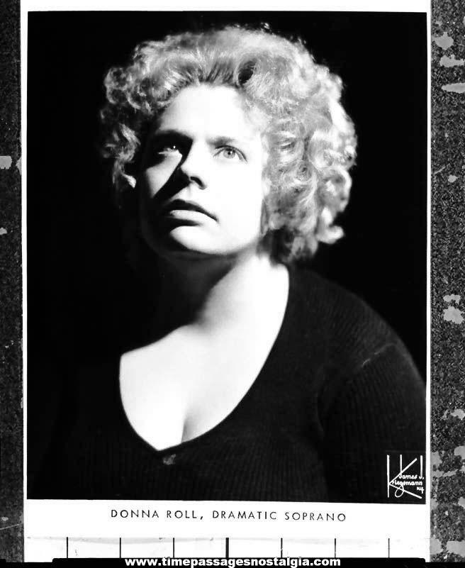 1976 Donna Roll Dramatic Opera Soprano Singer Black & White Professional Photograph Negative
