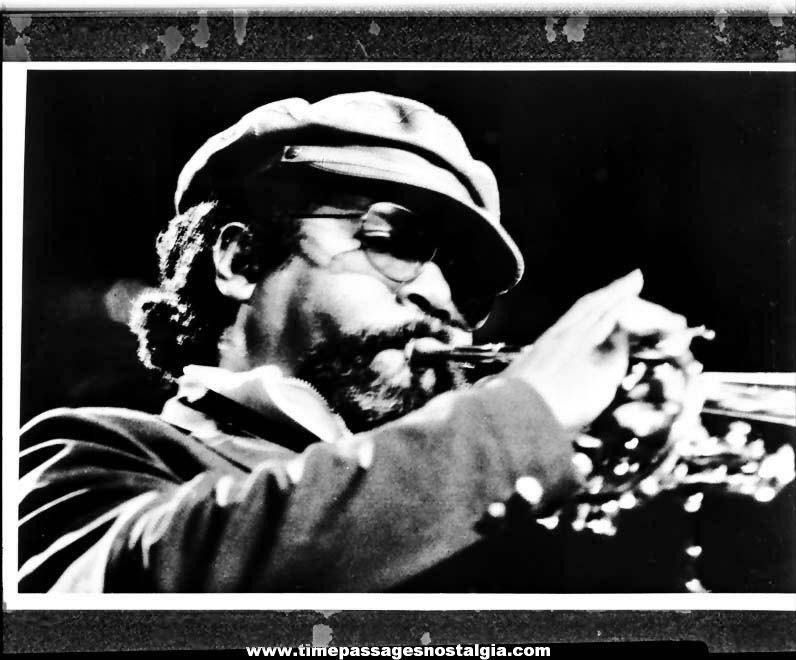 1976 Nat Adderley American Jazz Musician Black & White Professional Photograph Negative