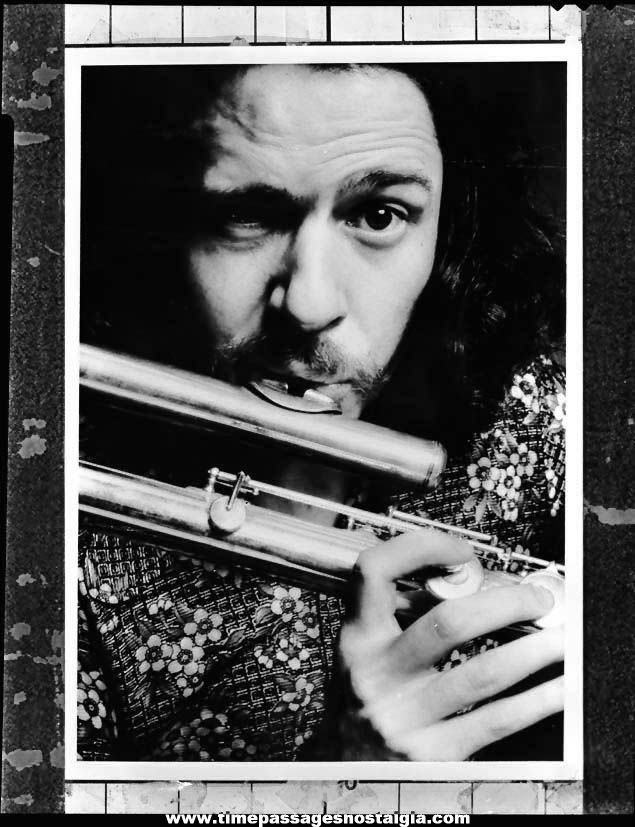 1976 Jeremy Steig American Jazz Musician Black & White Professional Photograph Negative