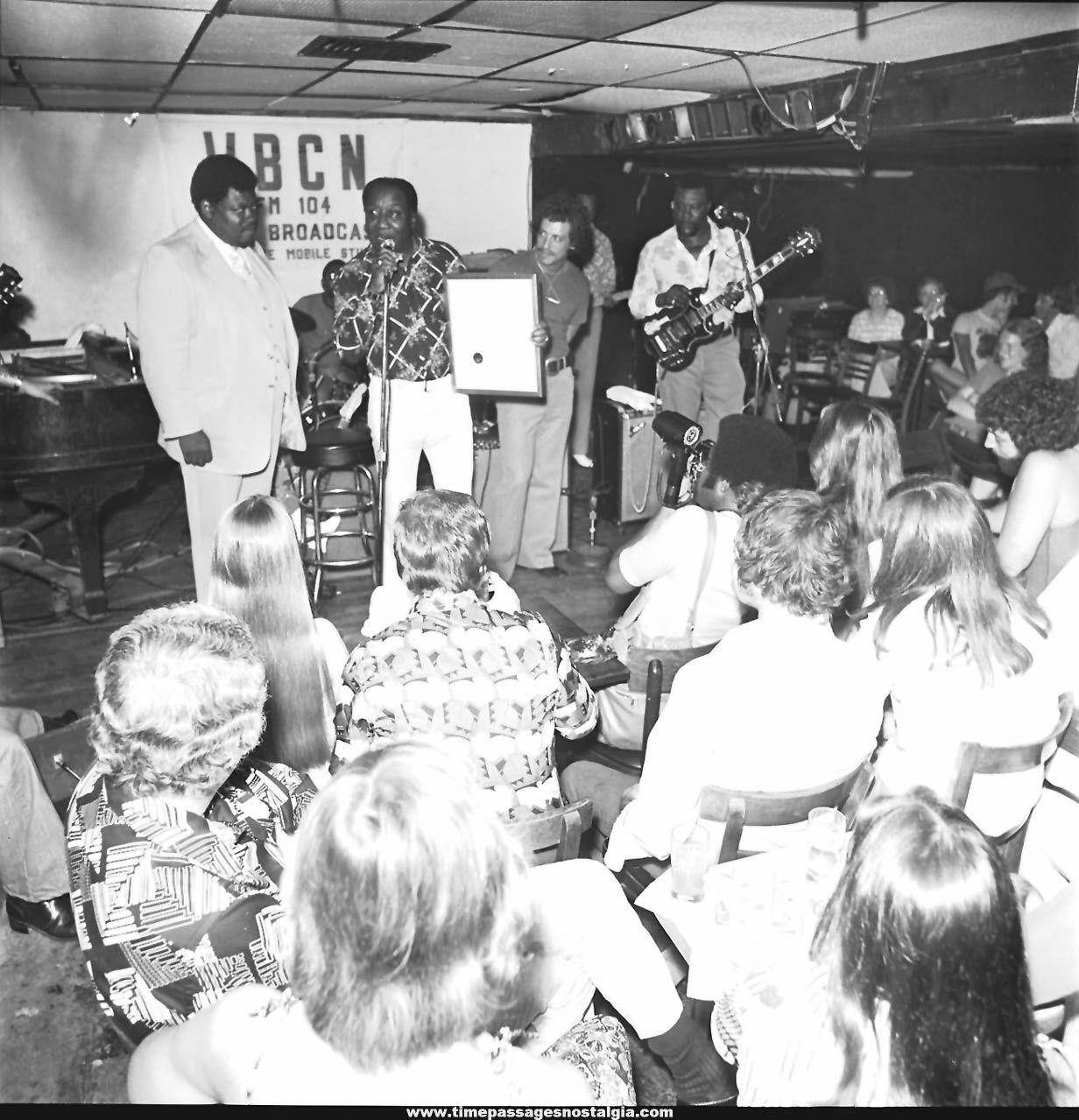 (8) 1976 Muddy Waters Day Boston Massachusetts Black & White Professional Photograph Negatives