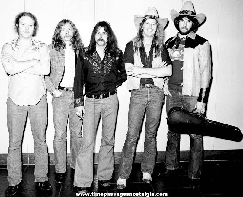 (2) 1976 The Outlaws Music Band Boston Massachusetts Black & White Professional Photograph Negatives