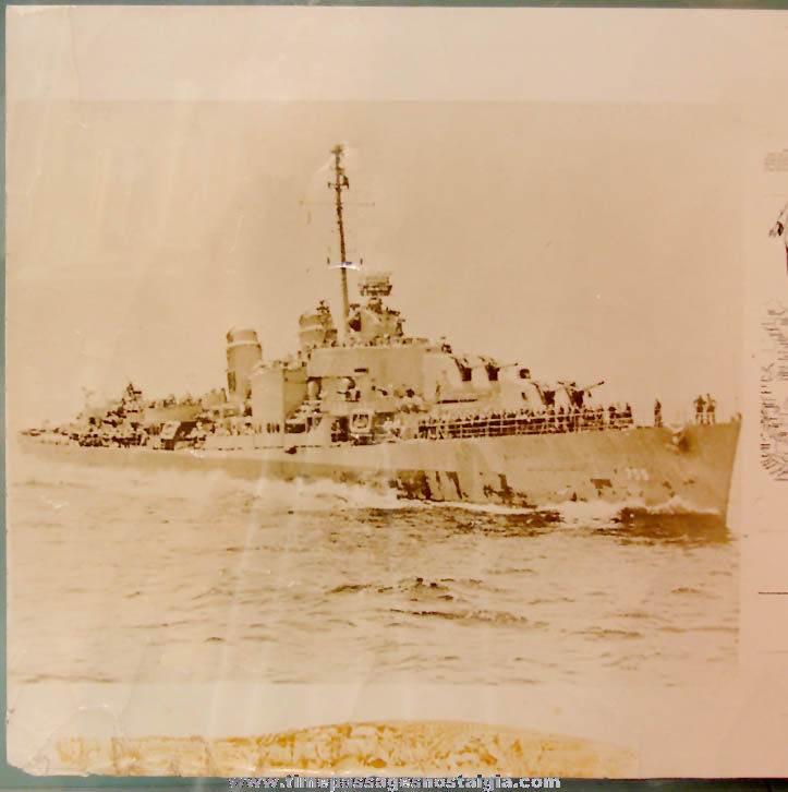 1945 – 1946 U.S.S. John A. Bole DD-755 World War II War Cruise Chart Map & Photographs