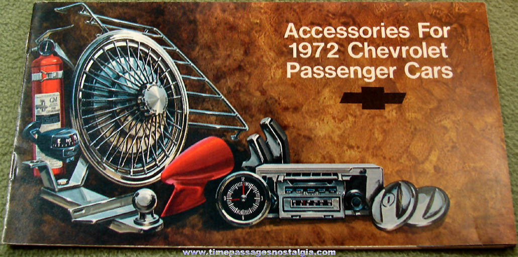 1972 Chevrolet Passenger Car Accessories Advertising Catalog Booklet