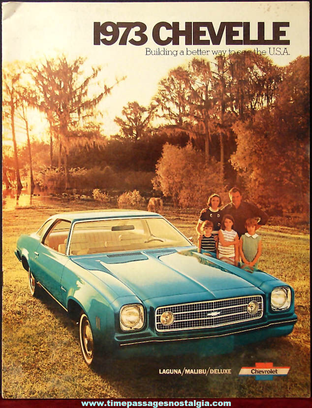 1973 Chevrolet Chevelle Automobile Dealership Advertising Booklet