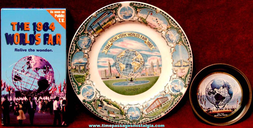 (3) 1964 – 1965 New York World's Fair Advertising Souvenir Items