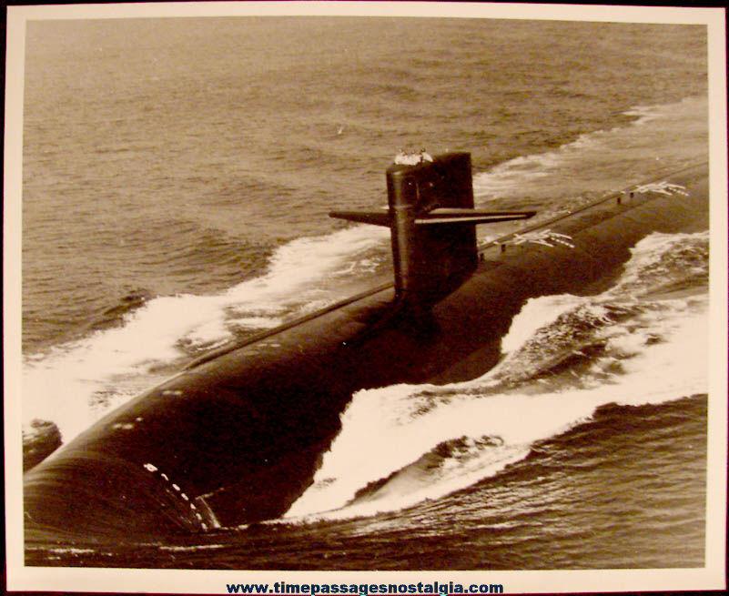 (8) 1980s United States Navy Submarine U.S.S. Hyman G. Rickover SSN-709 Information Kit Items