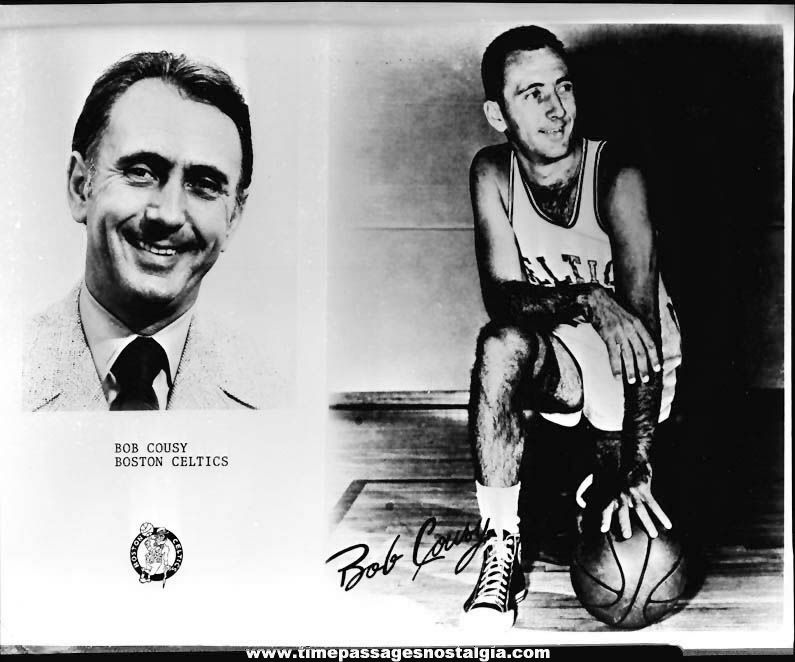 1976 Boston Celtics Basketball Player Bob Cousey Black & White Photograph Negative