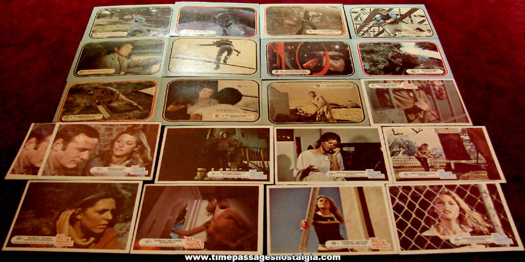 (21) ©1975 & ©1976 Six Million Dollar Man & Bionic Woman Bubble Gum Trading Cards
