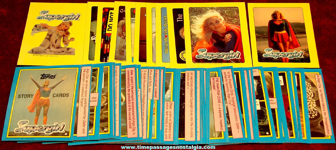 Set of (44) ©1984 DC Comics Supergirl Movie Topps Bubble Gum Trading Card Stickers