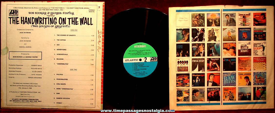 ©1968 The Handwriting On The Wall – The Sounds of Graffiti Comedy Record Album