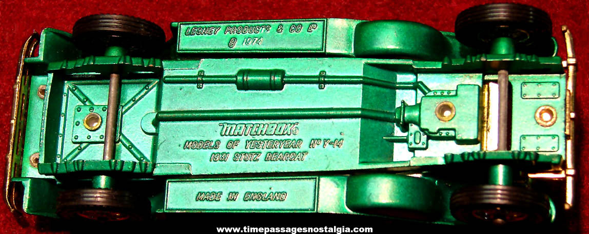 ©1974 Lesney Matchbox Models of Yesteryear 1931 Stutz Bearcat Toy Convertible Automobile