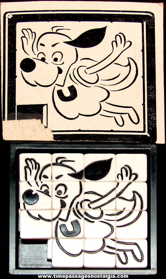 Old Under Dog Cartoon Character Roalex Slide Puzzle with Backing Card Picture
