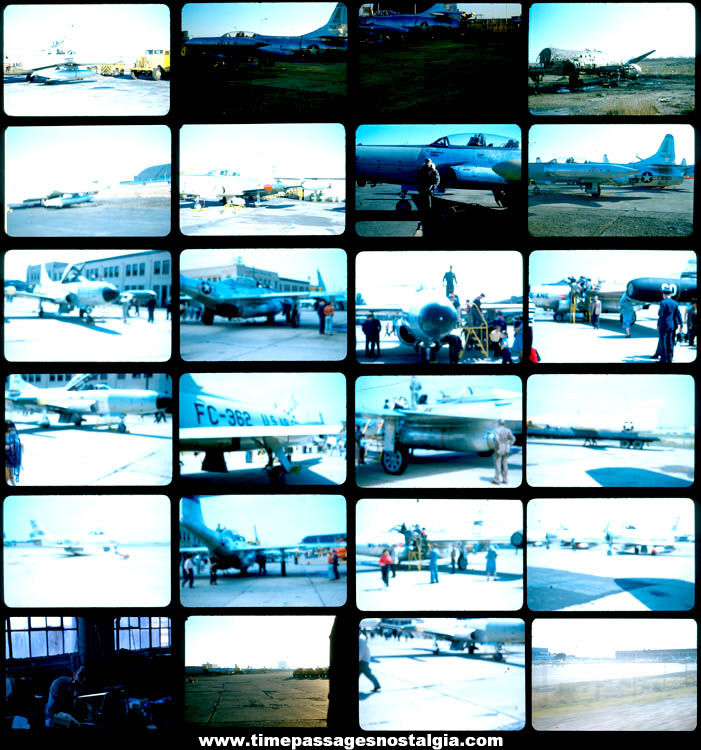 (48) Old United States Massachusetts Air National Guard Aircraft Color Photograph Slides