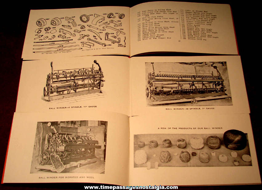 (3) Old Unused C. G. Sargent's Sons Corporation Ball Winder Machine Advertising Parts Booklets