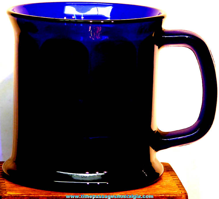 Large Cobalt Blue Glass Coffee Cup or Mug
