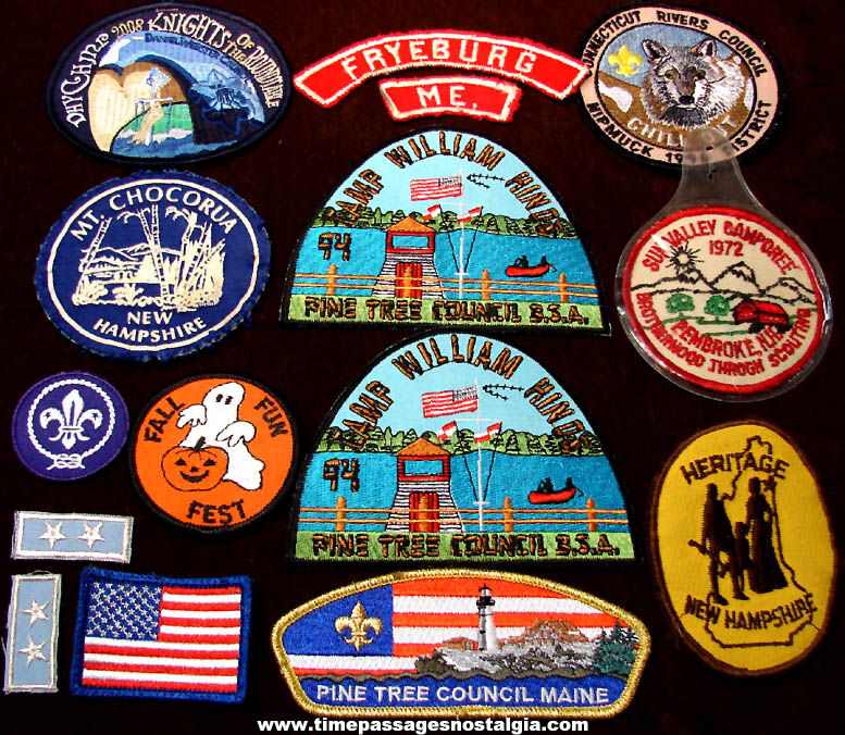 (15) Colorful Old Boy Scouts of America Embroidered Cloth Advertising Patches