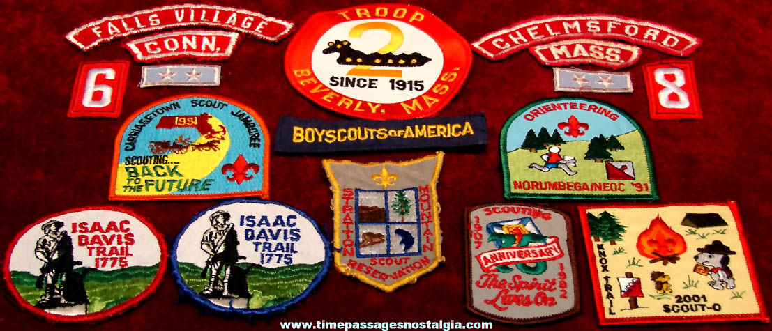 (17) Colorful Old Boy Scouts of America Embroidered Cloth Advertising Patches