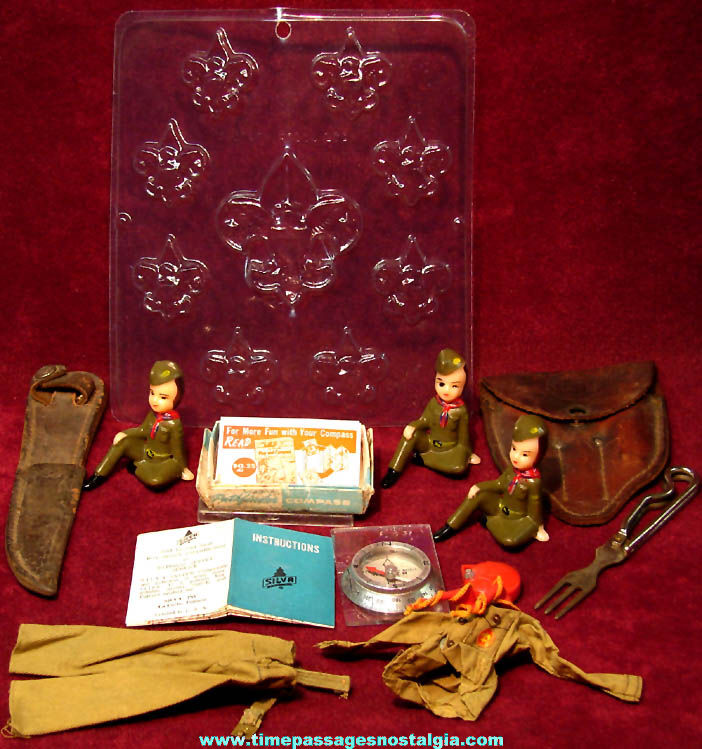 (10) Small Old Unusual Boy Scouts of America Items